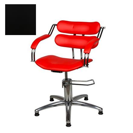 Купить Мэдисон, Кресло парикмахерское «Ирэн» гидравлическое, хромированное, черное