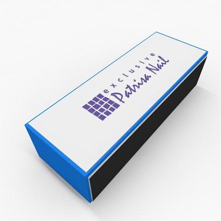 Patrisa Nail, Полировочный блок маникюрный, четырёхсторонний, голубой 240/600/320/400 (Patrisa nail)