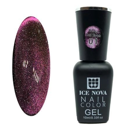 Купить Ice Nova, Гель-лак Disco Cat Eyes №01, Розовый