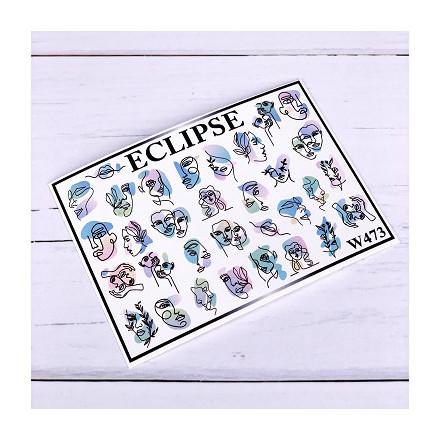 Купить Eclipse, Слайдер-дизайн для ногтей W №473