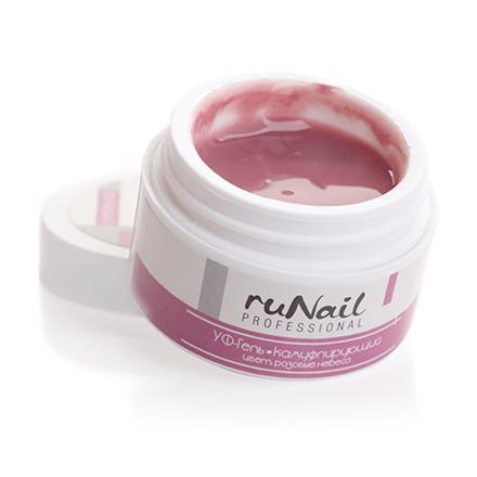 ruNail, УФ-гель камуфлирующий Color Pink Heaven, Розовый, 15 г