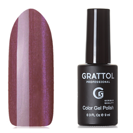 Grattol, Гель-лак Crystal №005, VioletGrattol<br>Магнитный гель-лак (9 мл) розовато-коричневый, с пурпурными микроблестками, полупрозрачный.
