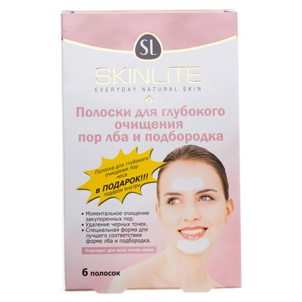 Skinlite, Полоски для очищения лба и подбородка, 6 шт