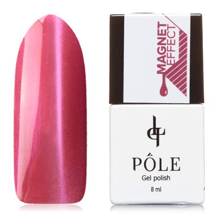 POLE, Гель-лак №50, Ягодный поцелуйPOLE<br>Магнитный гель-лак (8 мл) ягодно-розовый, с розовыми микроблестками, плотный.<br><br>Цвет: Розовый<br>Объем мл: 8.00