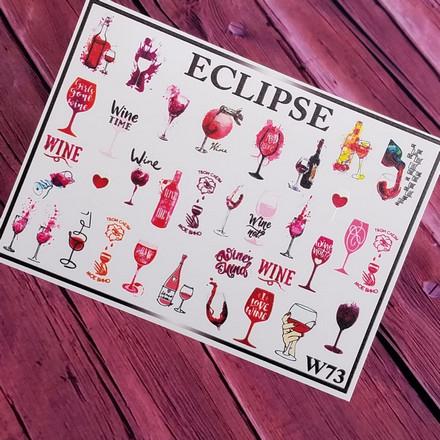 Купить Eclipse, Слайдер-дизайн для ногтей W №73
