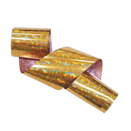 Купить De.Lux, Фольга переводная голографическая «Пайетки», золотая