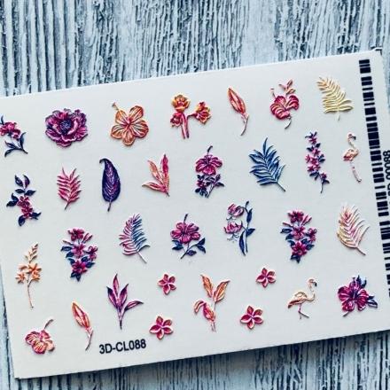 Купить AnnaTkacheva, 3D-стикер CL №088 «Веточки. Цветы», Anna Tkacheva