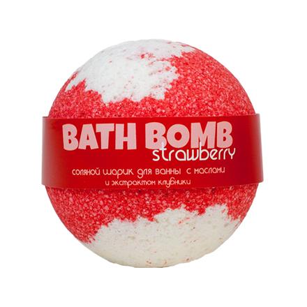 Купить Savonry, Бурлящий шарик для ванны Strawberry, 100 г