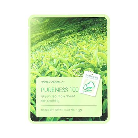 Tony Moly, Маска для лица Pureness 100 Green Tea Mask Sheet кеды tony p tony p to041amblau9