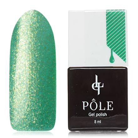 POLE, Гель-лак №461, Слезы нимфыPOLE<br>Гель-лак (8 мл) на прозрачной подложке изумрудного цвета, с золотистыми микроблестками, полупрозрачный.<br><br>Цвет: Зеленый<br>Объем мл: 8.00