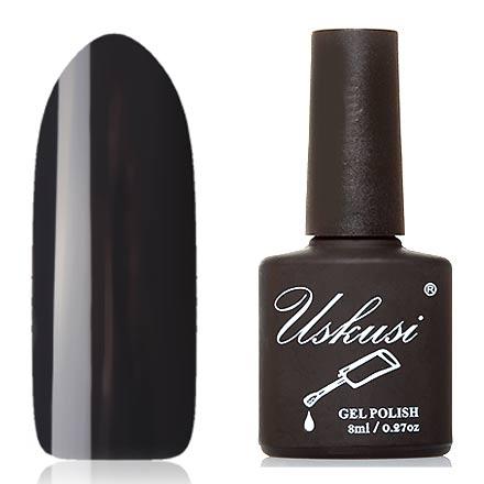 Uskusi, Гель-лак №257Uskusi<br>Гель-лак (8 мл) черно-серый, без перламутра и блесток, плотный.