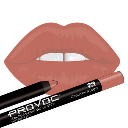 Provoc, Gel Lip Liner 29 CinnamonSugar, Цвет бежево-розовый