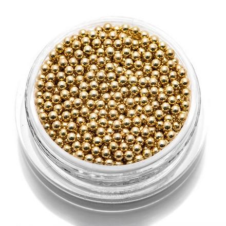 TNL, Бульонки металлические 1,5 мм (золото)