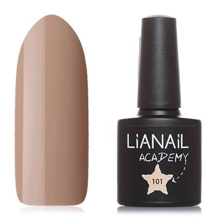 Lianail, Гель-лак Academy №101Lianail<br>Гель-лак (10 мл) песочный, без перламутра и блесток, плотный.<br><br>Цвет: Коричневый<br>Объем мл: 10.00