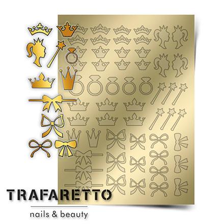 Купить Trafaretto, Металлизированные наклейки PR-01, золото