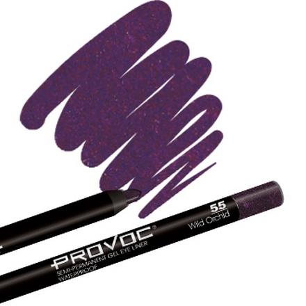 Provoc, Gel Eye Liner 55 Wild Orchid, Цвет темный аметист