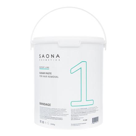 Saona Cosmetics, Сахарная паста для депиляции Bandage, 3500 г