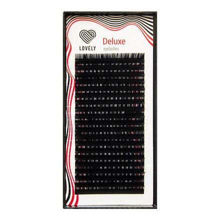 Lovely, Ресницы на ленте Deluxe, 0,07 мм, D-изгиб, черные