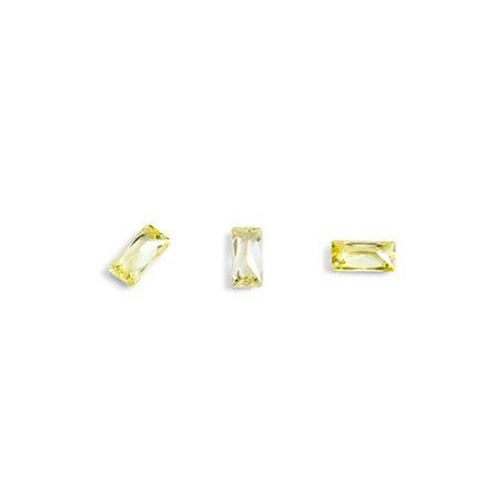 Купить TNL, Кристаллы «Багет» №2, желтые, 10 шт., TNL Professional