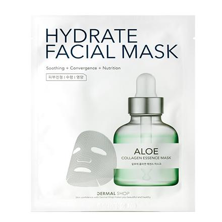 Dermal, Маска Shop с экстрактом алоэ, 25 гМаски<br>Тканевая коллагеновая маска для увлажнения, питания и улучшения цвета лица.