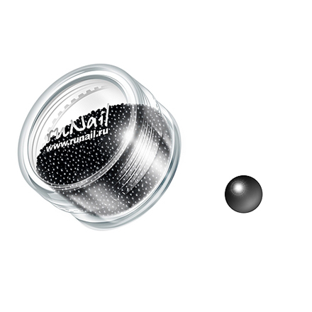 ruNail, дизайн для ногтей: бульонки 0311 (черный) цена и фото