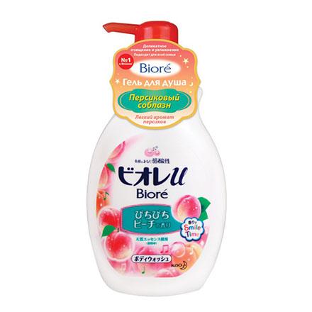Biore, Гель для душа «Персиковый соблазн», 530 мл косметика для мамы vitamin гель для душа 5 цветов 650 мл