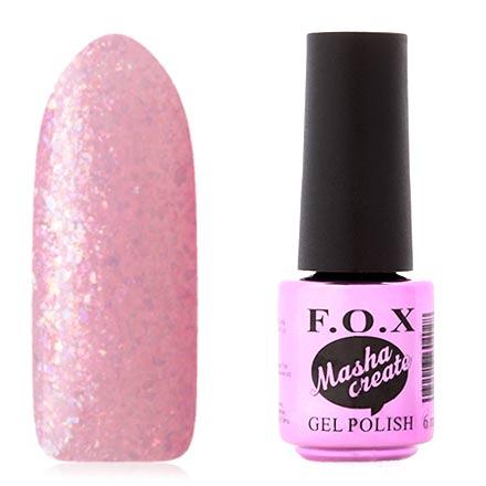 FOX, Гель-лак Masha Create Pigment №917F.O.X<br>Гель-лак (6 мл) на прозрачной подложке розового цвета, с голографической слюдой, полупрозрачный.