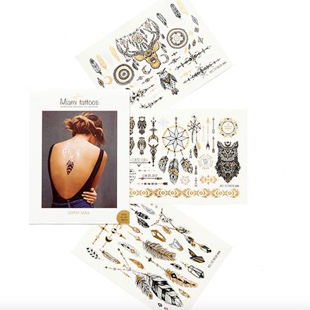 Miami Tattoos, Комплект переводных татуировок Gypsy Soul