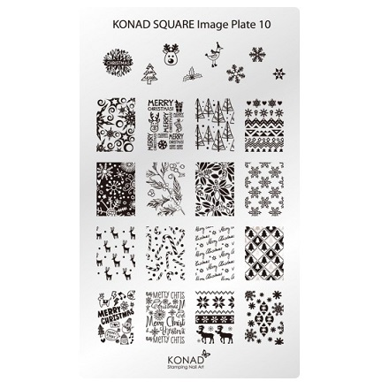 Konad, Пластина для стемпинга Square Image Plate № 10