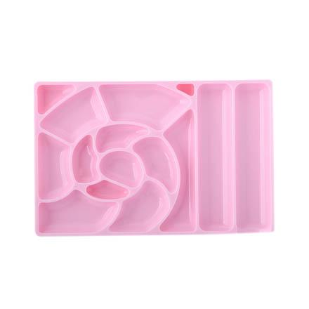 TNL, Палитра для красок, широкая с ячейками, розовая