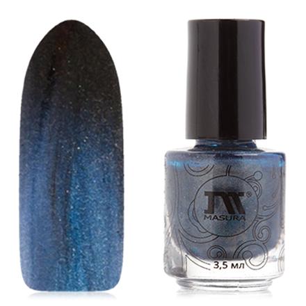Купить Masura, Лак для ногтей №904-177М, Индийская ночь, Синий