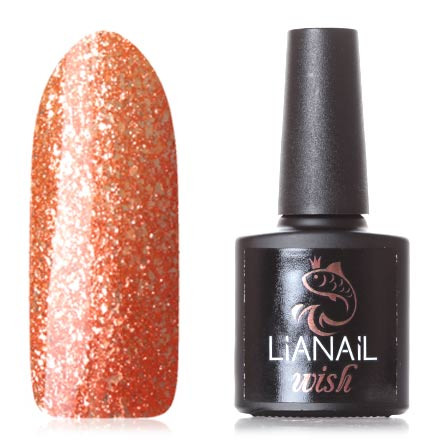 Купить Lianail, Гель-лак Wish Coral Shine №013, Оранжевый