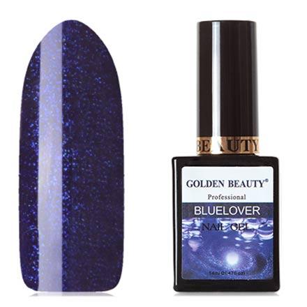 Bluesky, Гель-лак Golden Beauty Bluelover №04Bluesky Шеллак<br>Гель-лак (14 мл) фиалковый, с микроблестками, плотный.<br><br>Цвет: Фиолетовый<br>Объем мл: 14.00