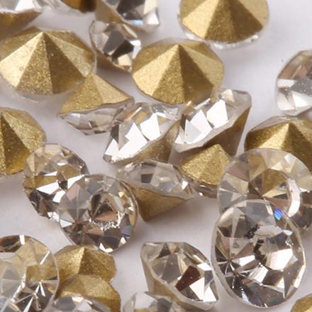 KrasotkaPro, Стразы конус микс прозрачныеСтразы для ногтей KrasotkaPro<br>Стразы для создания сияющего маникюра, 50 шт.<br>