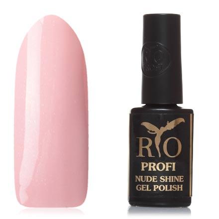 Rio Profi, Гель-лак Nude Shine №05, МадемуазельRio Profi<br>Гель-лак (7 мл) дымчато-розовый, с микроблестками, плотный.<br><br>Цвет: Розовый<br>Объем мл: 7.00
