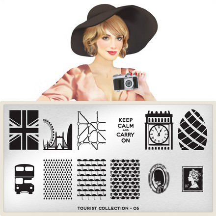 MoYou - London плитка для стемпинга Tourist Collection 05 moyou london enchanted 13