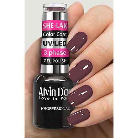 Купить Alvin D'or, Гель-лак №3537, Фиолетовый