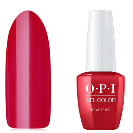 OPI GelColor, Гель-лак Big Apple Red N25 opi лак для ногтей race red 15 мл