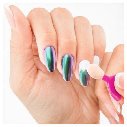 IRISK, Втирка «Зеркальная пыльца» №01Втирка для ногтей<br>Втирка с аппликатором для создания зеркального эффекта на ногтях (2,5 г).