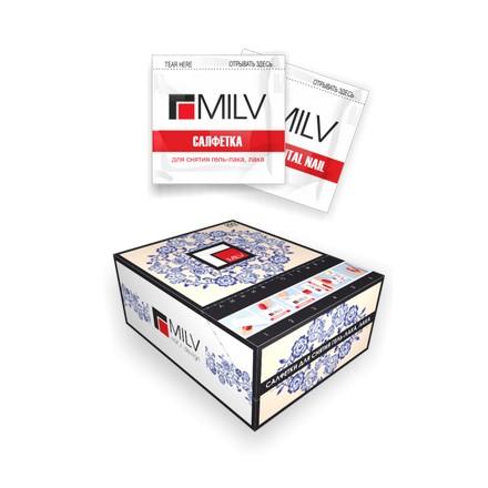 Milv, Салфетки с пропиткой для снятия гель-лака и лака MILV Fantasy
