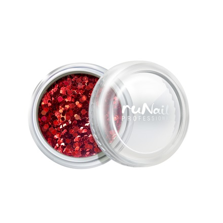 ruNail, дизайн для ногтей: конфетти (красный) runail дизайн для ногтей ракушки 0285