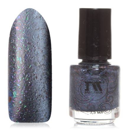 Masura, Лак для ногтей №904-233M, Полет феиМагнитные лаки Masura<br>Магнитный лак (3,5 мл) глубокий синий, с перламутром и разноцветными хлопьями фольги, плотный.<br><br>Цвет: Синий<br>Объем мл: 3.50