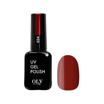 Купить Oly Style, Гель-лак №034, Красный