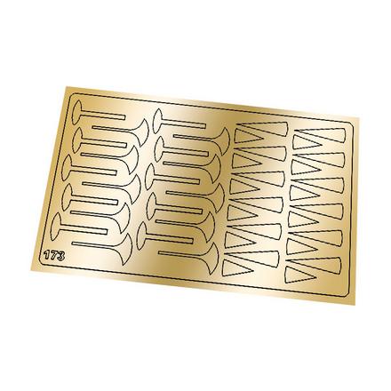 Freedecor, Металлизированные наклейки №173, золото фото