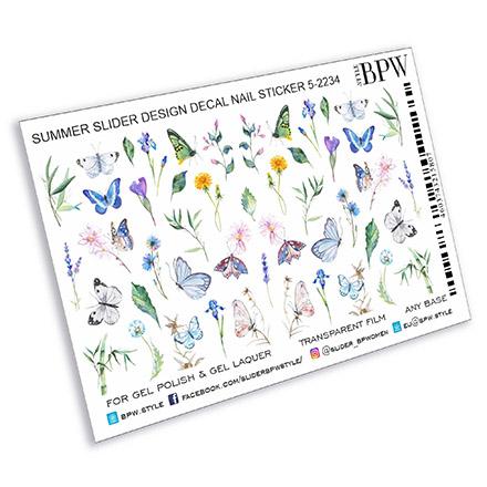 BPW.Style, Слайдер-дизайн «Бабочки и цветы», №5-2234  - Купить