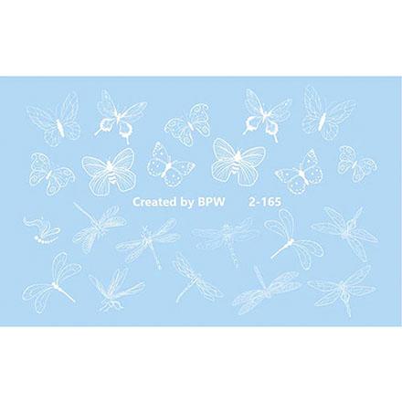 Купить BPW.Style, Слайдер-дизайн «Белые бабочки и стрекозы» №2-165