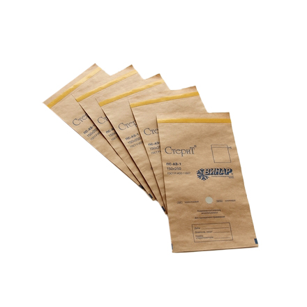 СтериТ, Крафт-пакеты для стерилизации, 75х150 мм (10 шт.)Дезинфекторы для инструментов<br>Крафт-пакеты используются для стерилизации инструмента в сухожарах (сухожаровых шкафах).