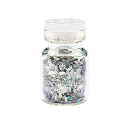 IRISK, Декор Осколки стекла, серебро от KRASOTKAPRO.RU