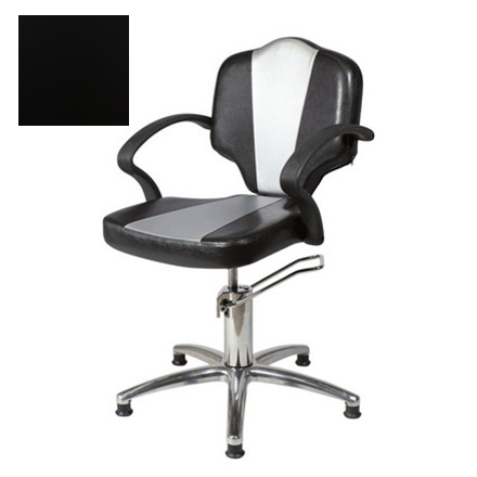 Купить Мэдисон, Кресло парикмахерское «Мона модерн» гидравлическое, хромированное, черное