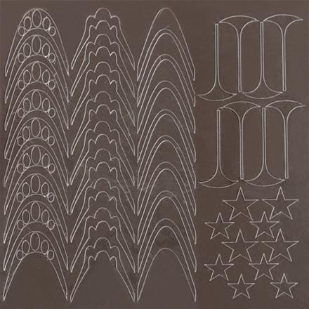 KrasotkaPro, Металлизированные наклейки M4s, серебро